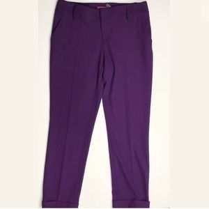 Alice + Olivia Purple Dress Pants Slacks